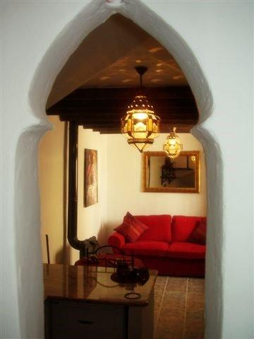 sofa and wood burner - CASA JOYA small but delightfull town house - Mondujar - rentals