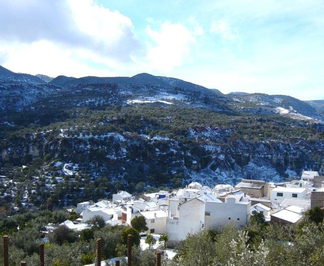 view of albunuelas - CASA TERRAZAS overlook lower part of Albuñuelas - Albunuelas - rentals