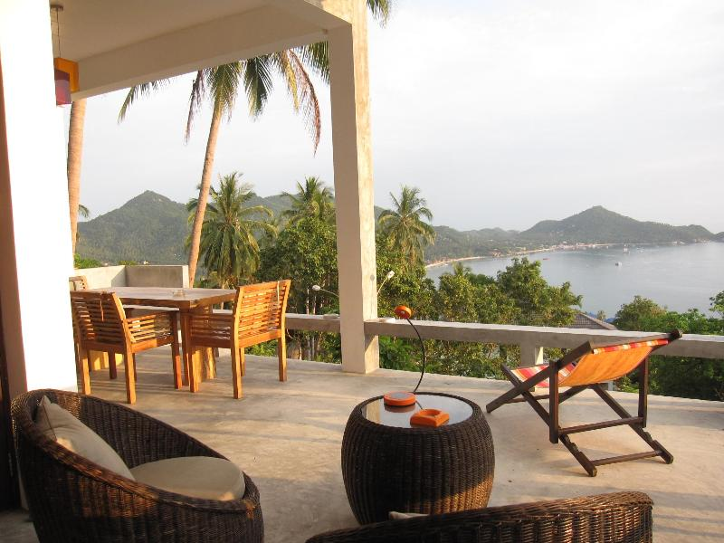 Terrasse and view - The bungalove : Design villa on Koh Tao Island - Koh Tao - rentals