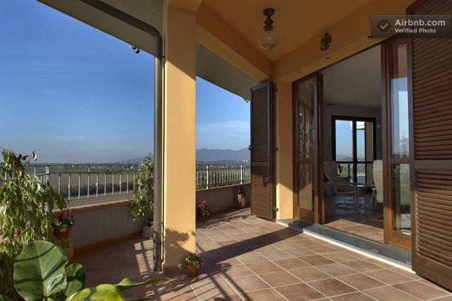 Enjoy morning coffee or wine at sunset over farmland of the Arno Valley. - Amazing Tuscan Home With Countryside Views and AC! - Montopoli in Val d'Arno - rentals