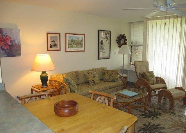 Living Room - Turtle Bay 197 West ***  Available for 30 day rental, please call - Kahuku - rentals