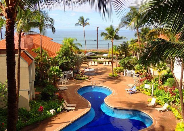 Panroamic Ocean View From Lanai - Maui Beach Resort #C-403, Panoramic Ocean View, Sleeps 3, Great Rates!!! - Kihei - rentals