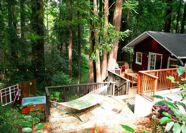"Welcome Home to the Little Red House Plus!! - ""The Little Red House Plus!""Hot Tub! 5 mins to Golf Course! Brand NEW Rental! - Guerneville - rentals"