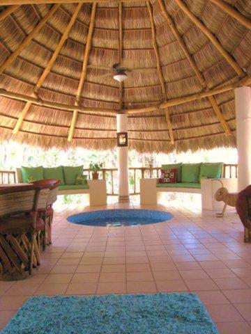 CASITA CELESTIA with Palapa, pool, and placed n a tropical paradise designed by a master gardiner. - Secluded Home, Lush Garden, Palapa, Pool, by Beach - San Pancho - rentals