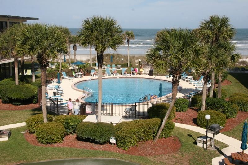 View from both bedrooms and living room thru glass doors - View  Beach, Pool and Intracoastal Waterway Condo - Saint Augustine - rentals