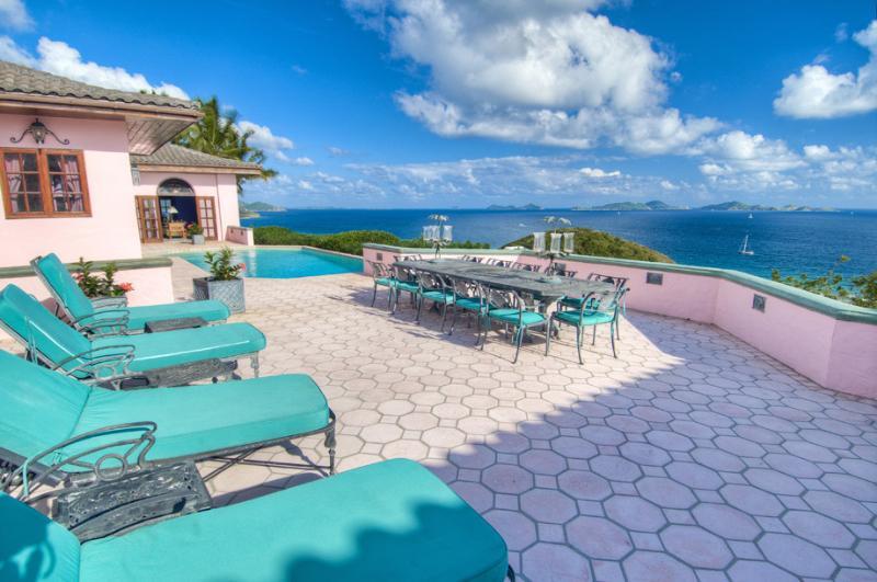 Rhumb House at Nora Hazel Point, Tortola - Ocean View, Koi Pond, Lush Atrium - Image 1 - Tortola - rentals