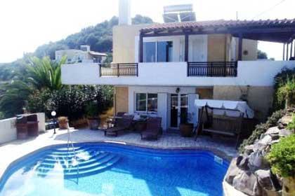 The rear from across the pool - Villa Hannah. Pano Stalos. Chania. Crete Greece - Chania - rentals