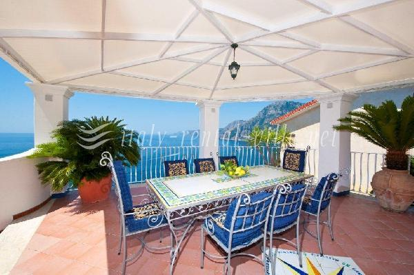 terrace - Villa Arzilla 1 - look and judge - Positano - rentals