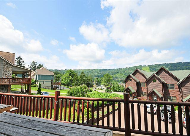 Deck View - Illustrious 4 bedroom log home located in the heart of McHenry. - McHenry - rentals