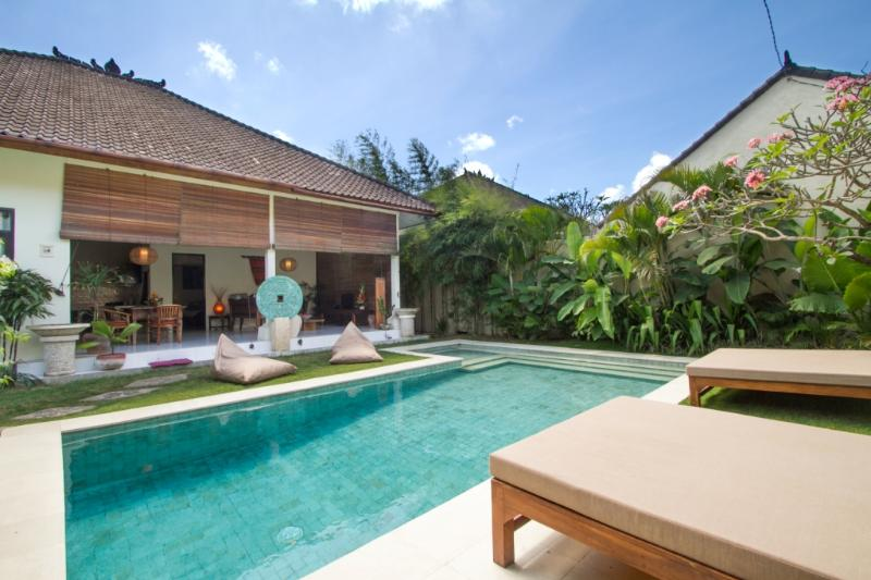 Garden, Pool & Relaxation. 8x3.5m Pool with kids paddling section - 2BDR Seminyak Budget Villa, 5min walk to Beach! - Seminyak - rentals