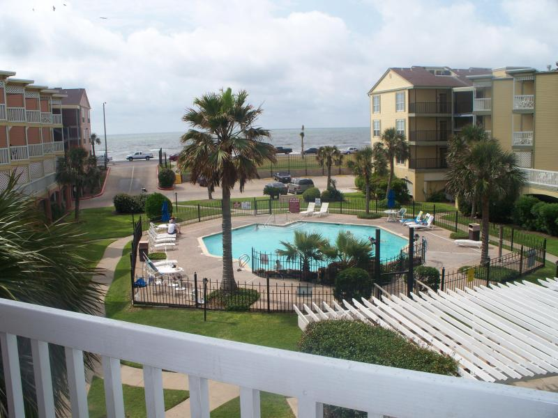 "View from Balcony - "" Breathtaking Gulf Front,1Br/1BA, Galveston, TX - Tiki Island - rentals"