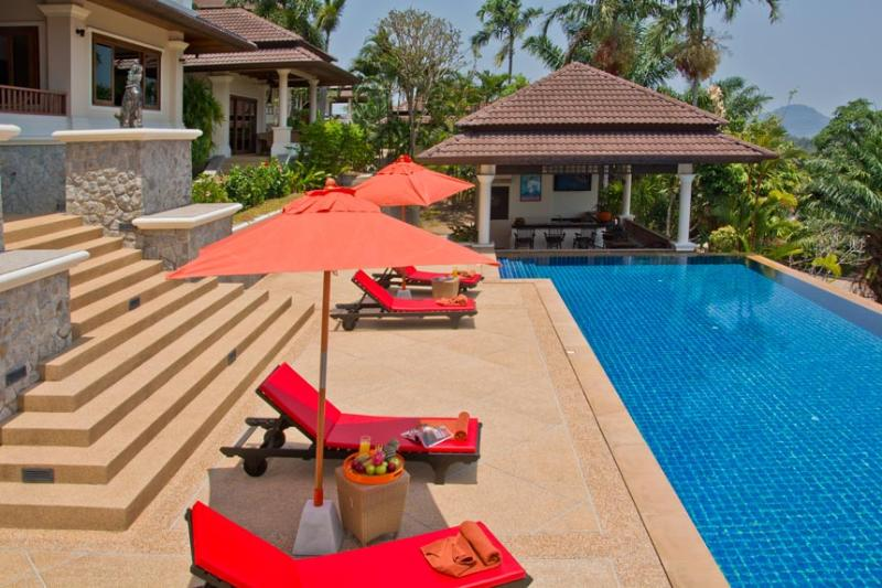 Pool Deck with 18 metre swimming pool - ORIOLE - LARGE LUXURY 5 BED POOL VILLA NR BEACH - Bang Tao Beach - rentals
