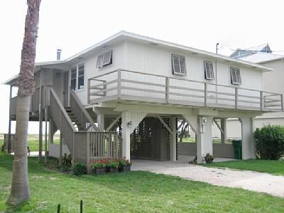 BAYHOUSE FROM STREET - Galveston Bay House adjacent to Kemah Boardwalk - Kemah - rentals
