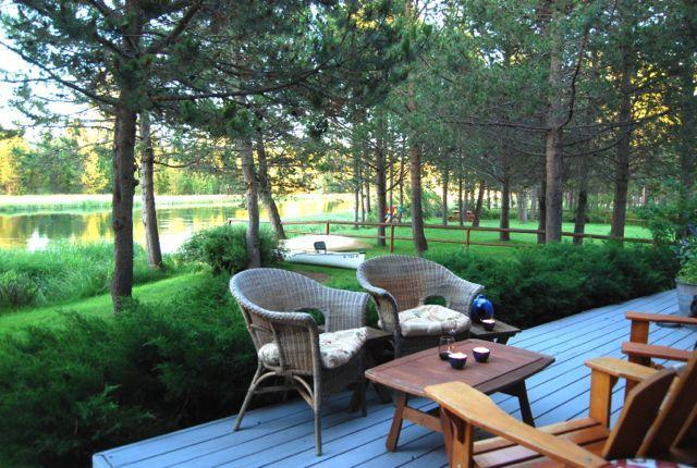 Riverview from back deck - Beautiful Riverfront home - Bend - rentals