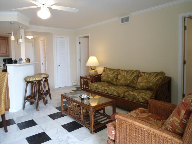 spacious open concept living room - Lovely 2bedroom condo with ocean view on the beach - Freeport - rentals