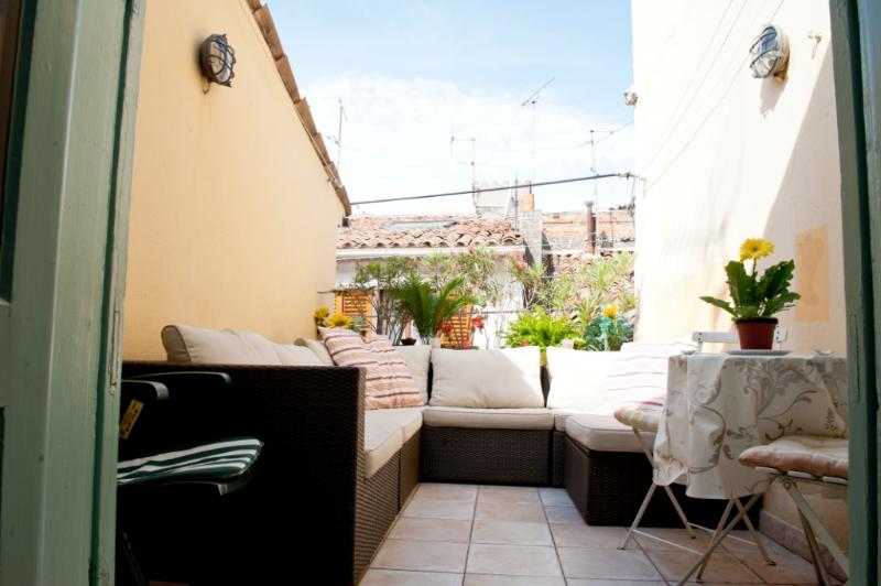 Roof Terrace - Cute 3 storey house in the heart of Old Antibes - Antibes - rentals