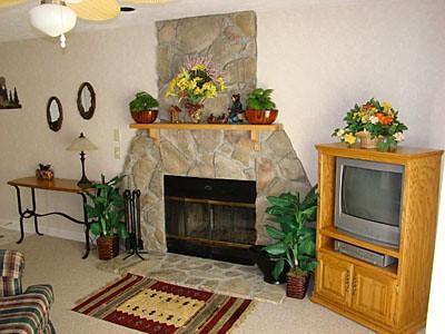 1 BR Condo Stone Fireplace D102 - Image 1 - Gatlinburg - rentals