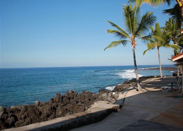 Keauhou Kona Surf & Racquet 183 2 b/r oceanfront condo in Kona Hawaii - Image 1 - Kailua-Kona - rentals