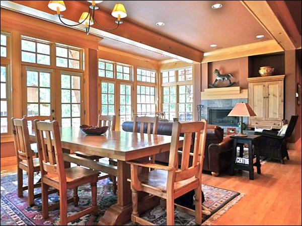 Open Layout Between the Dining Area and Living Room - Magnificent, Three-Story Townhome - Newly Remodeled (1151) - Ketchum - rentals