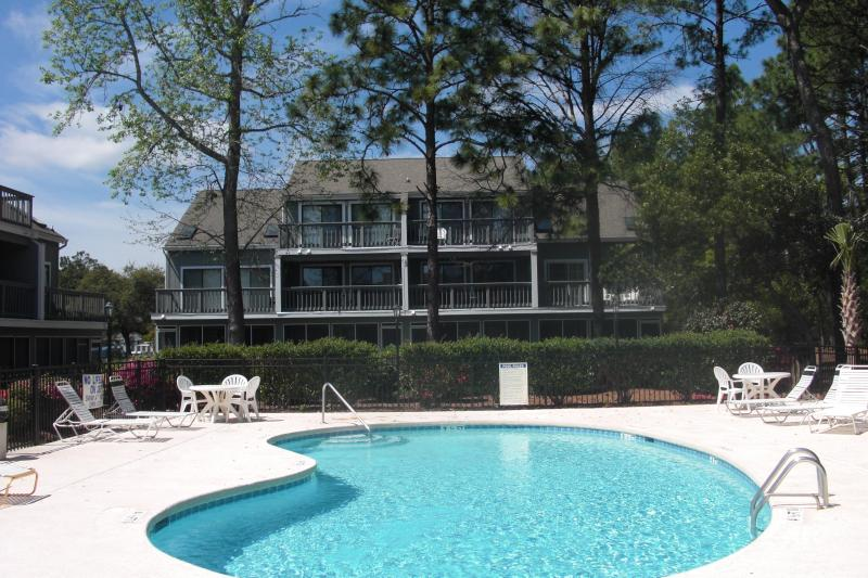 Pool and Hot Tub Area - Surfside Beach (Myrtle Beach), SC 1 Bedroom Condo - Surfside Beach - rentals