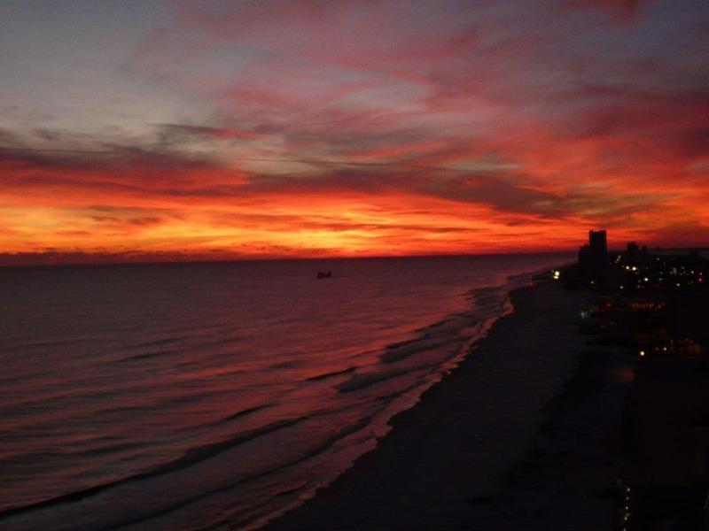 Unbelievable sunset views from the balcony of 1809.  View of Gulf Shores taken 12/26/12. - Seawind 1809 * Corner unit with awesome sunsets * - Gulf Shores - rentals