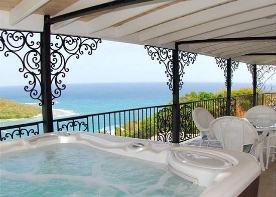 Unwind with a beverage of your choice in the Jacuzzi while enjoying ocean vistas by day and star fields by night - Christy Ann - Saint John - rentals