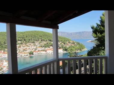 A1 Daniel (4+1): terrace view - 5945  A1 Daniel (4+1) - Pucisca - Pucisca - rentals