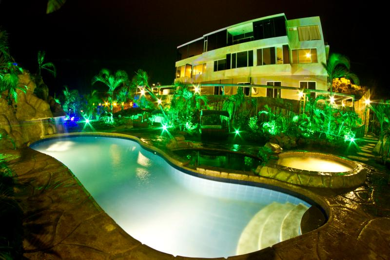 Nexpa Main Building at Night - Montanita Estates - Poolfront 3 Bedroom 2 bath - Montanita - rentals