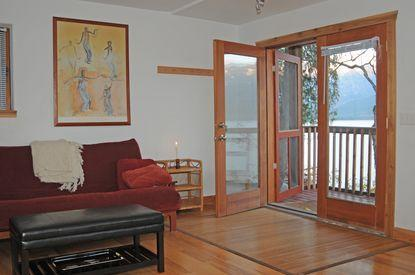 French doors leading to the deck - Ainsworth Springs Guest House - Kutenai Condo - Ainsworth Hot Springs - rentals