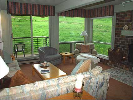 Comfortable family room with fireplace - Snowmass Condo -  (2136) - Snowmass Village - rentals