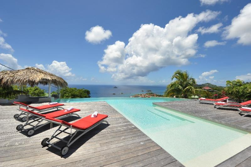 Blue Swan at Lurin, St. Barth - Ocean View, Swimming Pool with Built-in Bar - Image 1 - Lurin - rentals
