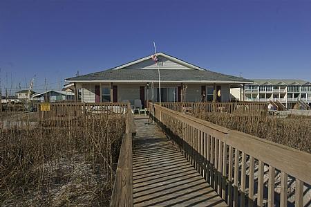 Oceanside View of Bon Bini - Bon Bini, 232 Seashore Dr - North Topsail Beach - rentals