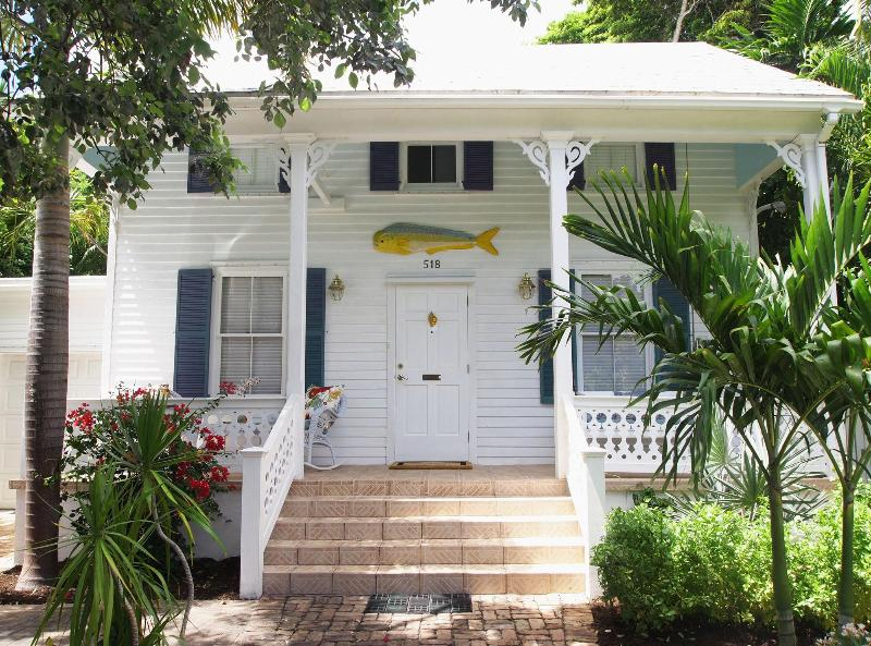 Front of house. Classic historic house. - Ellen's Retreat, Key West, MONTHLY RENTALS ONLY - Key West - rentals