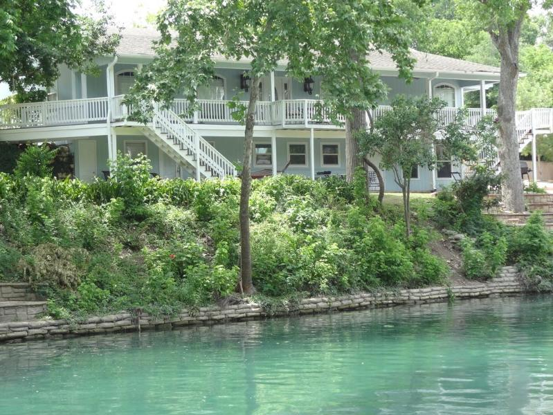 View of house from across river - THE BEST PLACE TO STAY ON THE COMAL RIVER - 405 - New Braunfels - rentals