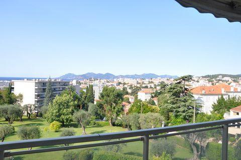 2 bedroom apartment with sea view, terraces and pool - Image 1 - Cannes - rentals