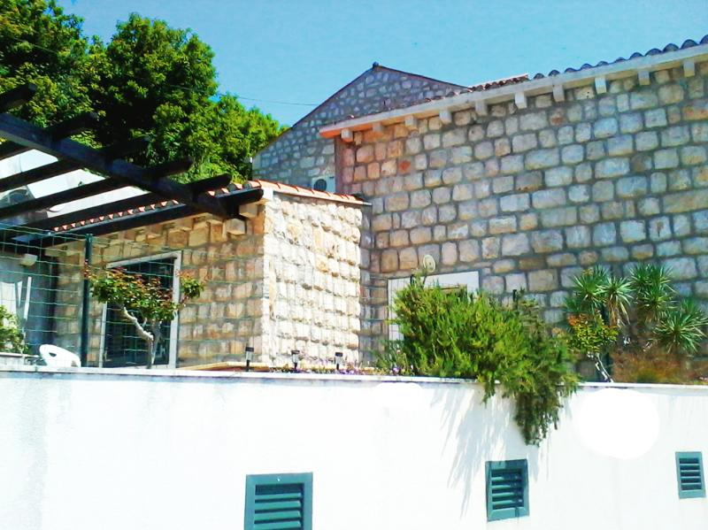 Typical stone house with large terrace & sea view - Image 1 - Mlini - rentals