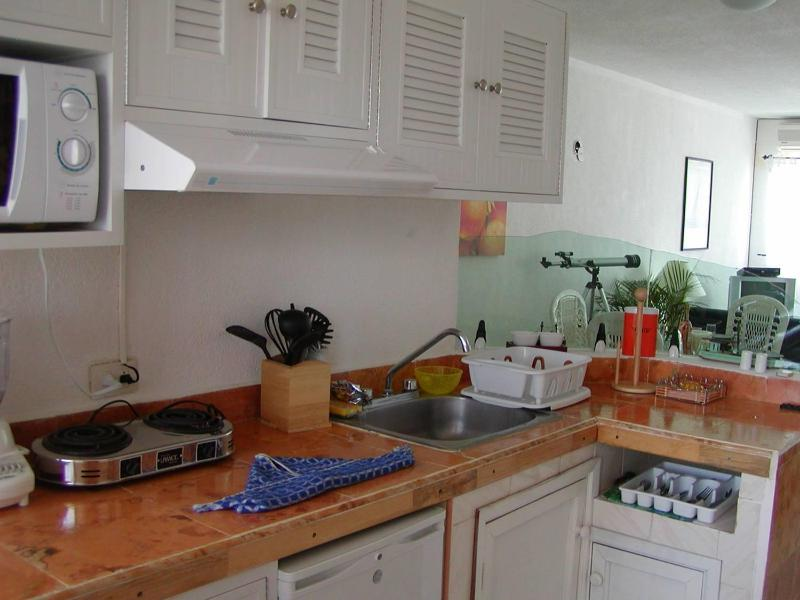 kitchen,cocina - Condo Cancun Beachfront peaceful, quiet - Cancun - rentals