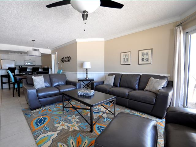 Large living room with brand new furniture, looking out at the beach! - Villas of Clearwater 11A   BEST view on the beach! - Clearwater - rentals