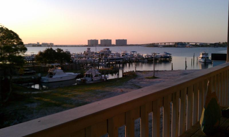 Morning View from patio of Terry Cove Bay and Perdido Pass - Beautiful Condo Setting/Perfect Vacation - Orange Beach - rentals