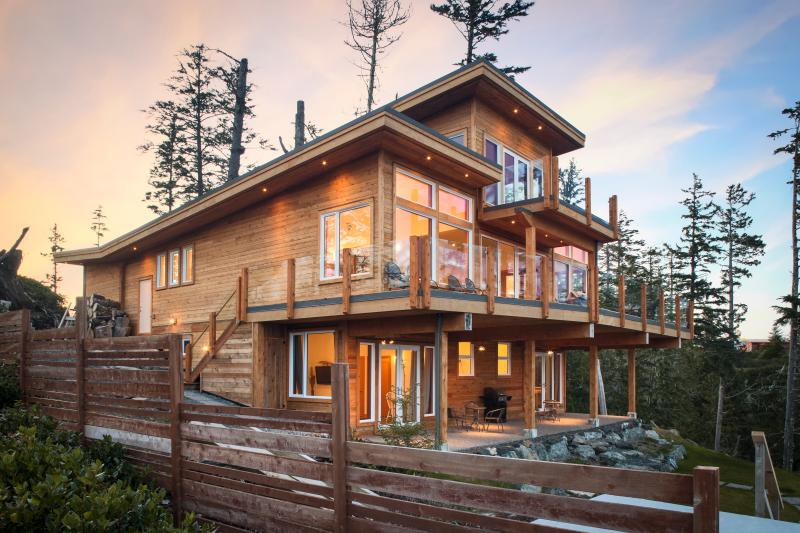 View of our house and the Suites below - Vacation Rental in Ucluelet, Hot Tub/Private Beach - Ucluelet - rentals