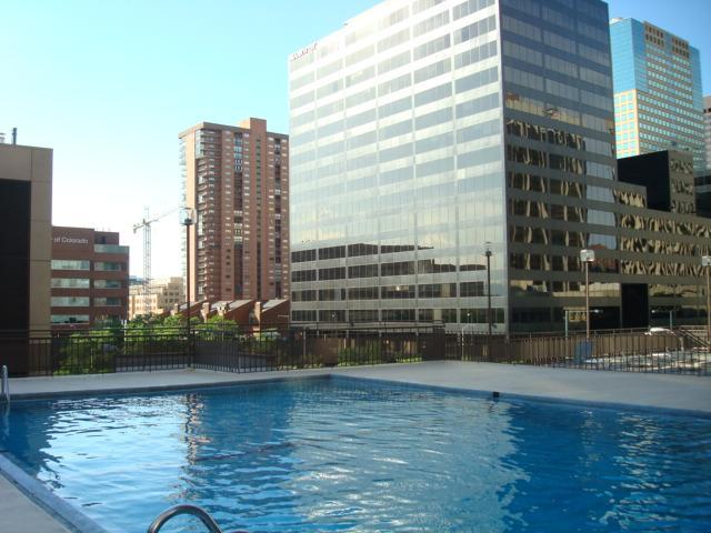 ROOF TOP SWIMMING POOL IS OPEN MAY-SEPTEMBER - HEART OF DENVER SUITE: View, Location, Attractions - Denver - rentals