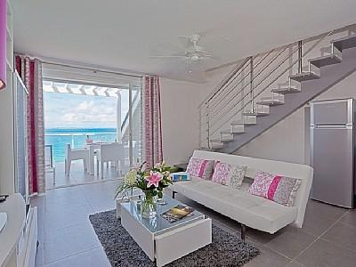 Lounge and terrace - Beautiful duplex apartment in Grand Case - Grand Case - rentals