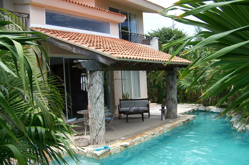 your pool - Private 3 bedroom home in a lush tropical garden. - Puerto Aventuras - rentals