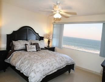 Master Bedroom with an Amazing Ocean View! Includes a King Bed with a Tempur-Pedic Mattress - Stunning Oceanfront Condo - Truly One of a Kind! - Satellite Beach - rentals