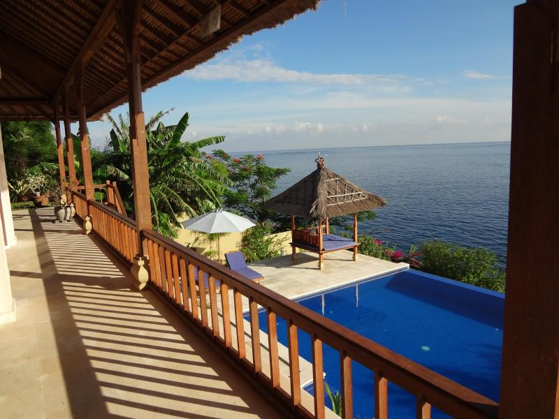 View from one of the the porches.... - Luxury Villa Celagi, great sea view, awesome pool! - Amed - rentals
