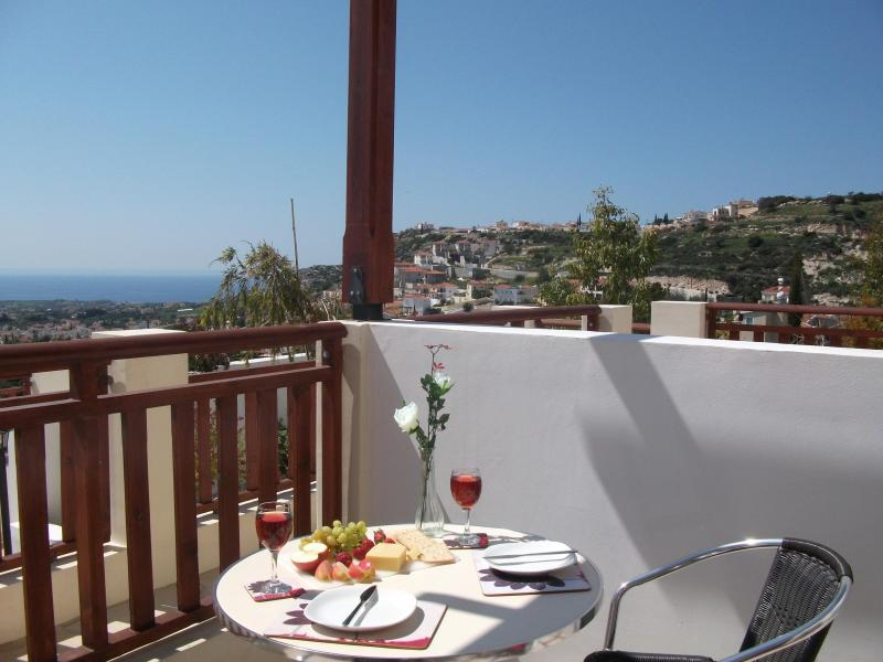 Lunch on the Terrace - Paschali Apartments Holiday Apartment A1 - Peyia - rentals