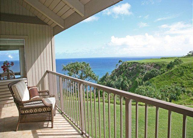 Amazing Ocean Views, Pali Ke Kua 233, a generous split-level floor plan - Image 1 - Princeville - rentals