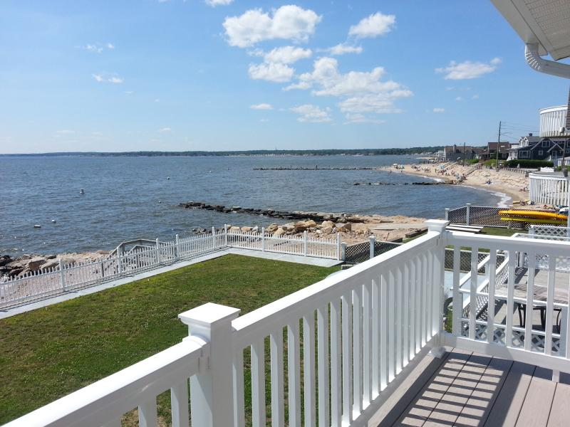 Upper Deck View - Cornfield Point Waterfront Beach House CT Vacation - Old Saybrook - rentals