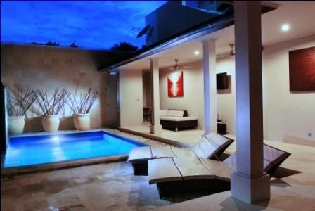 Private Pool  Outdoor Alfresco Dining - Kuta Regency Villa (4 Bedrooms) - Kuta - rentals