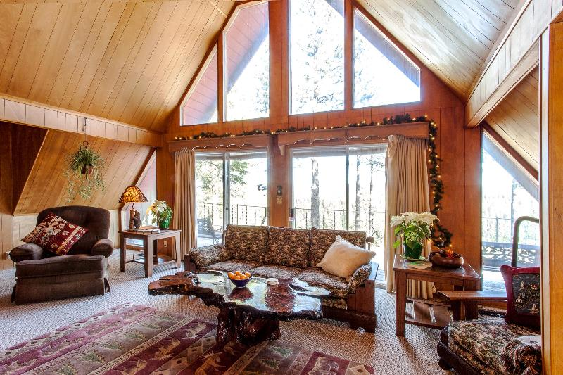 Living Room With View - Discover Peaceful Private Lodge w/ views of Forest - Nevada City - rentals